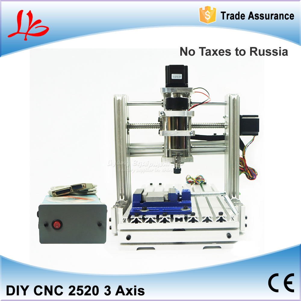 Free Taxes to Russia & Ukraine, DIY Mini CNC Engraving Machine CNC 2520 Wood Cutting Machine with 300W Spindle