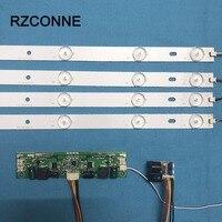 440mm LED Backlight Lamps Kit Aluminum Board W Optical Lens Fliter For 46inch TV Monitor Driver