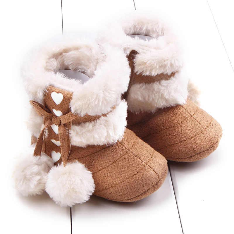 Модная флисовая зимняя детская обувь для младенцев; зимние ботинки на резиновой подошве для мальчиков и девочек; шерстяные ботиночки на меху; мягкая подошва; bebe sapato