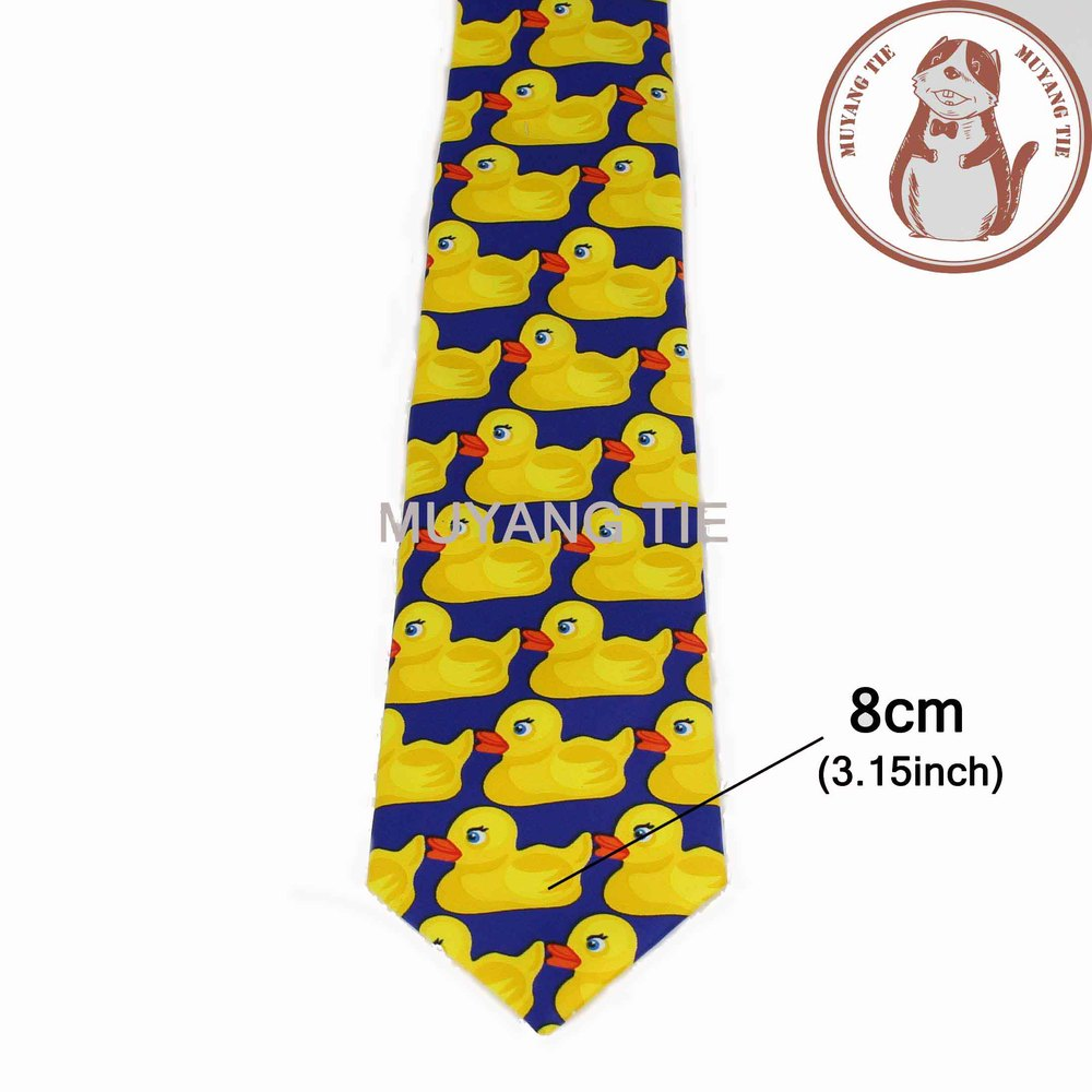 Желтая резиновая утка галстук мужской Модный повседневный необычный Ducky Профессиональный галстук четыре размера Галстуки - Цвет: 2