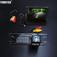 FUWAYDA SONY CCD HD Car RearView Camera waterproof With 4.3 inch Car Rearview Mirror Monitor For Renault Koleos 2009 2014