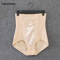 High Waist Panties Women Brand New Plus Size 3 4 5 XL Slim Elastic Lace Briefs Black Khaki KK2582