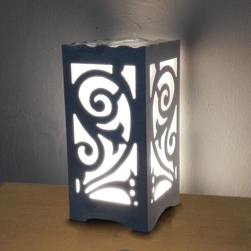ФОТО Lily design Through-Carved table lamps AC85V-265V 5W Warm white The quartet ivory white LED abajur for Bedroom living room study