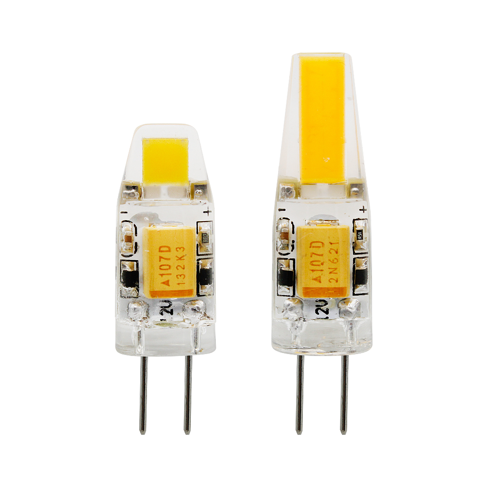 1pcs Mini <font><b>G4</b></font> LED COB Lamp <font><b>3W</b></font> 6W Bulb AC DC <font><b>12V</b></font> 220V Candle Silicone Lights Replace 20W 30W 40W Halogen for Chandelier Spotlight image
