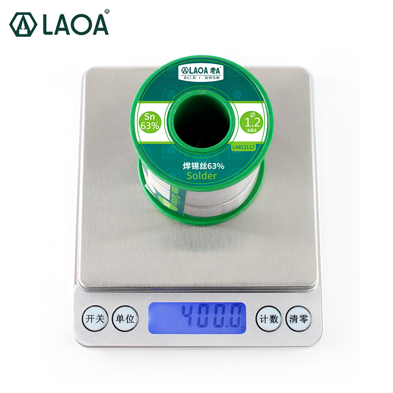 1 PCS 400G LAOA Soldering Tin Wire Solder Wick 63% Content 0.8-2.3mm Solder Wire Welding Wires