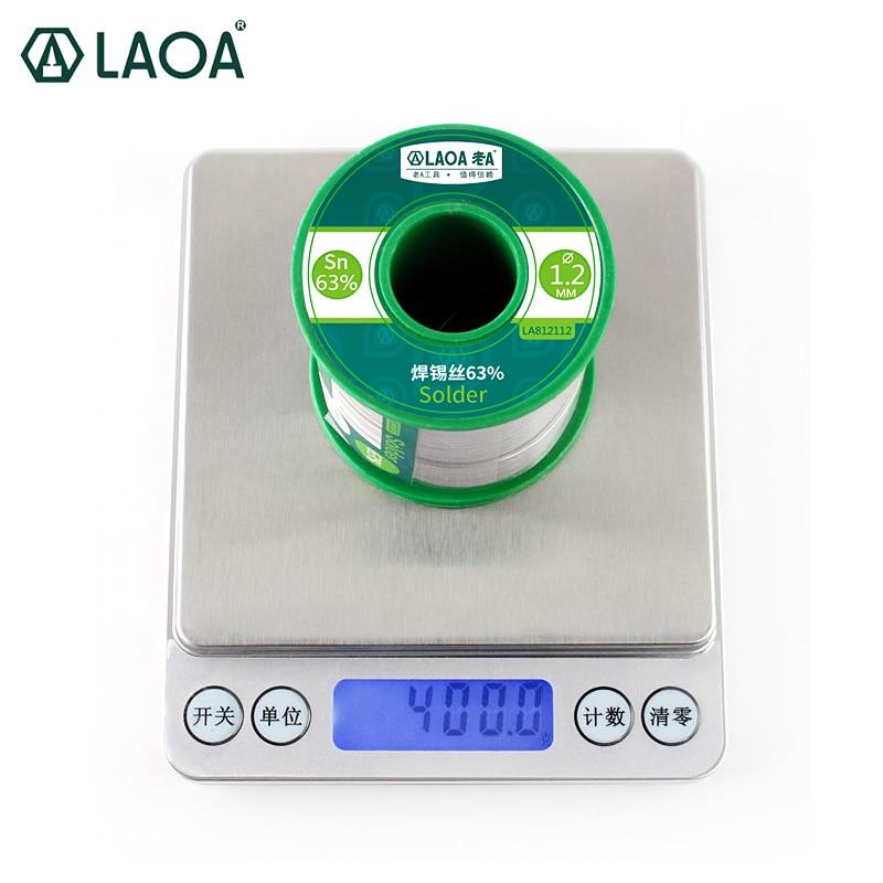 1 PCS 400G LAOA Soldering Tin Wire Solder Wick 63% Content 0.8-2.3mm Solder Wire Welding Wires