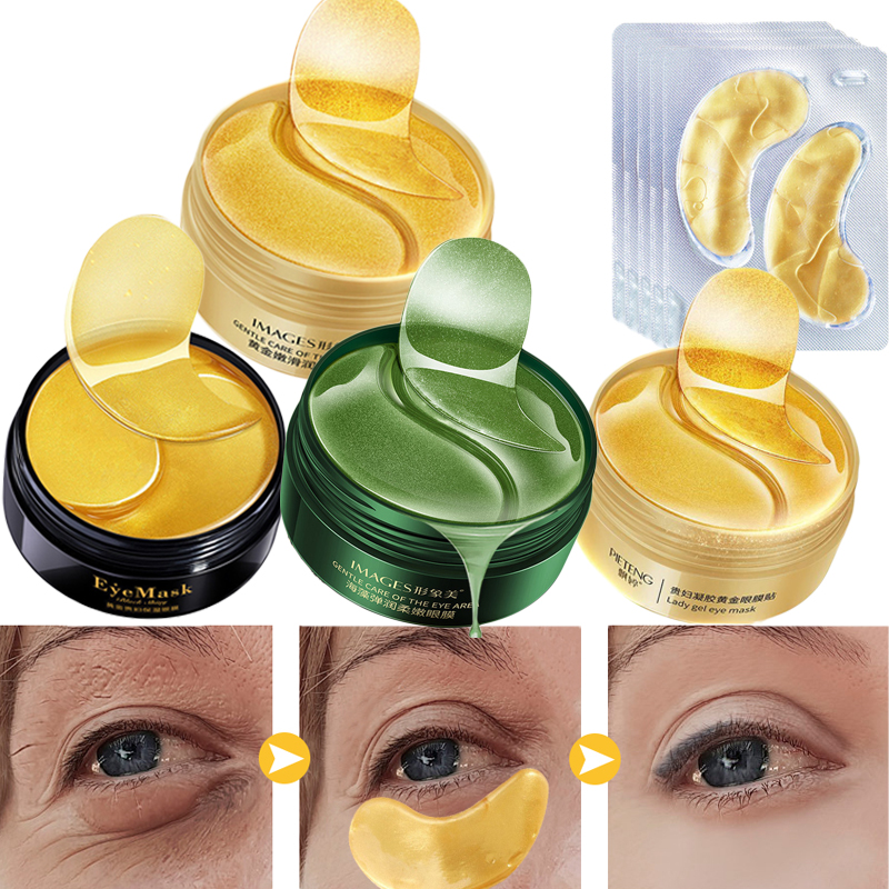 60pcs Dark Circles Remove Collagen Eye Mask Eye Patches For Eyes Care Moisturizing Gold Mask Anti-Wrinkle Anti Aging Skin Care