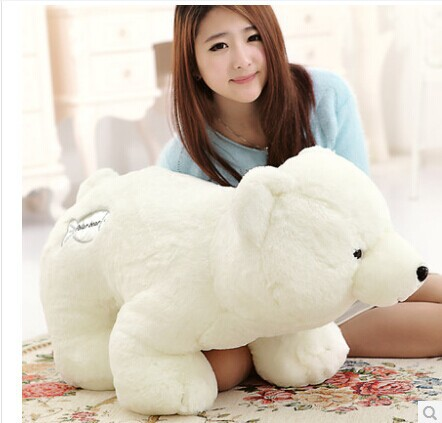 huge 80 cm lovely white polar bear plush toy doll throw pillow birthday gift , girlfriend gift w5466 big cute simulation polar bear toy handicraft lovely white polar bear doll gift about 31x18cm
