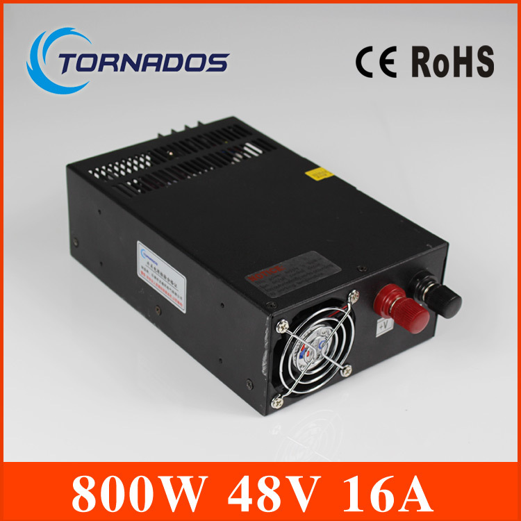 CE approved power supply  48v 800w unit 16A high watts single output for LED Strip light AC to DC S-800-48
