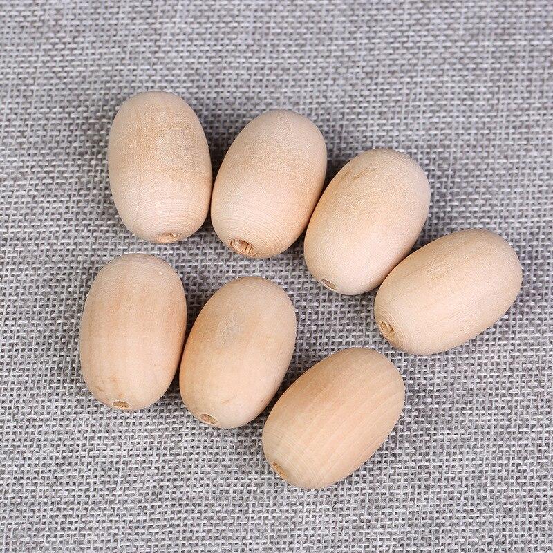 50 X Ovale en Bois Spacer Perles 20 mm couleur naturelle