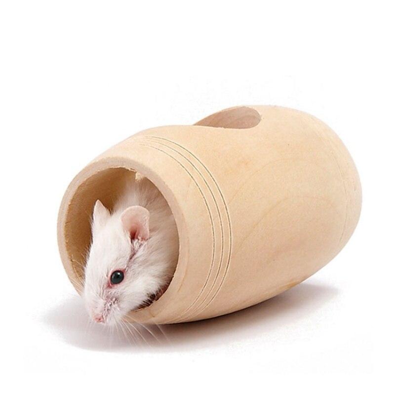 2018 Hörcsög kisállat fa ketrec ágy Toy House Patkány hörcsög - Pet termékek