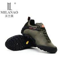 MILANAO Man Outdoor Hiking Shoes fishing Athletic Trekking Boots Women Climbing Walking Sneakers large SIZE EUR 36-48