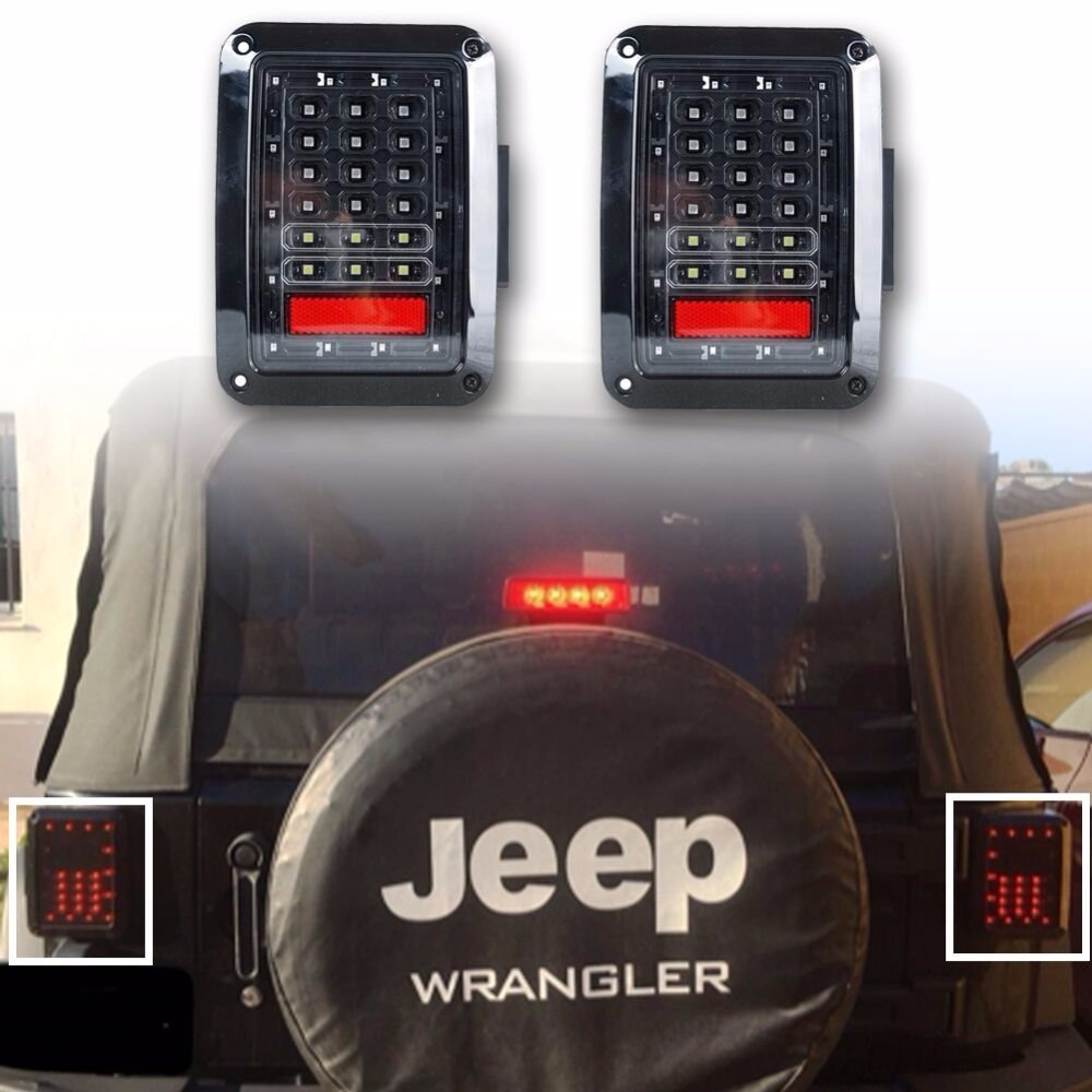 2pcs Led Taillight car JK Brake Light Reverse Light Signal Light For Jeep European US version