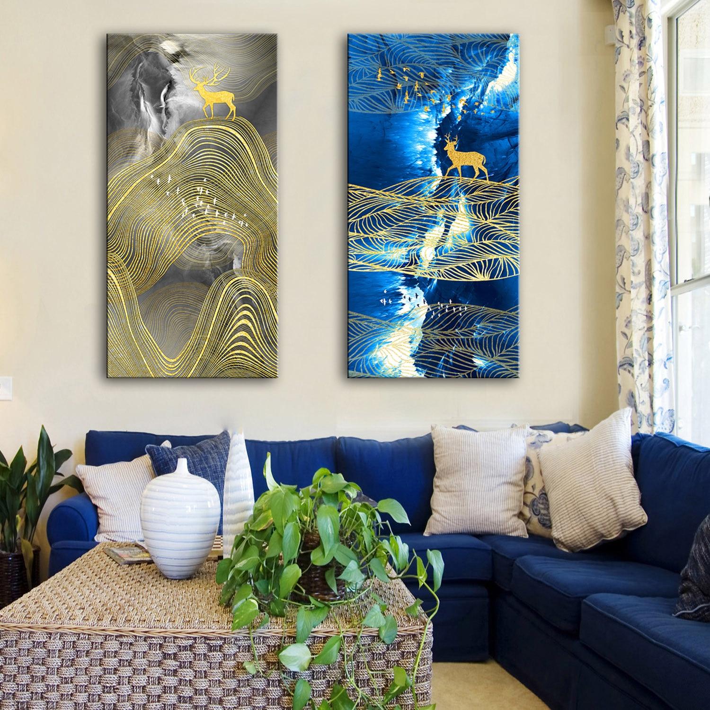 Envío de la gota Óleo Lienzo Pinturas Decorativas Abstracto Wall - Decoración del hogar