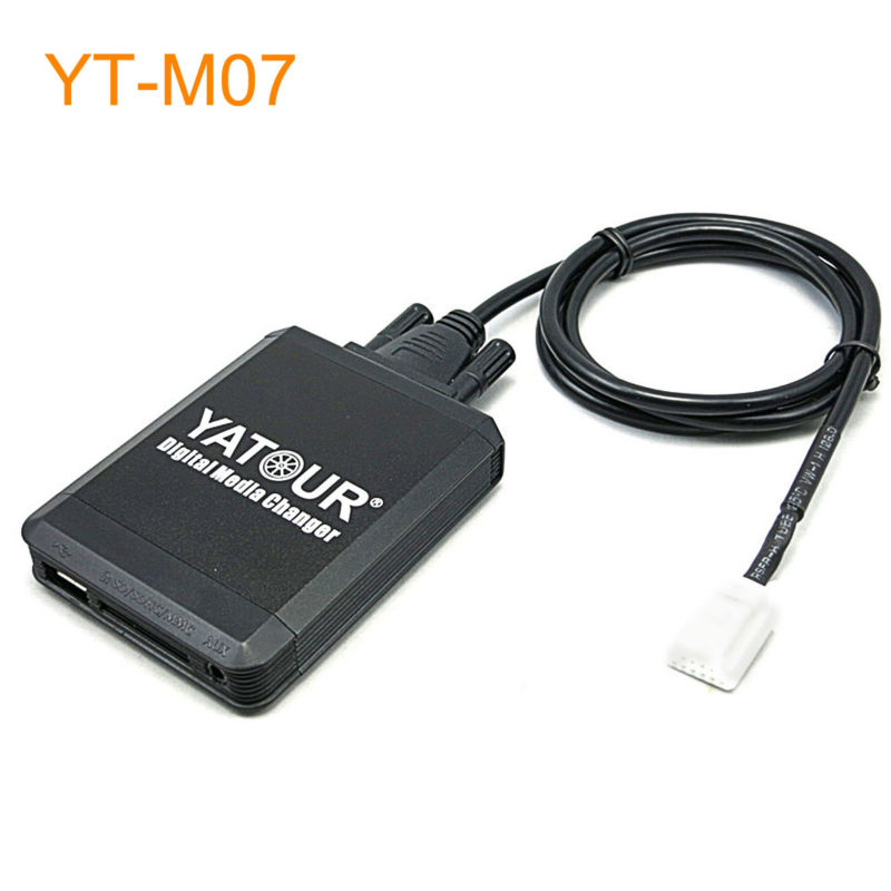 Car MP3 USB SD CD Changer for iPod AUX with Optional Bluetooth for Toyota Solara Tacoma Tundra Venza Vitz Yaris MR2 FJ Cruiser yatour car mp3 usb sd cd changer for ipod aux with optional bluetooth for toyota carina celica coaster highlander land cruiser