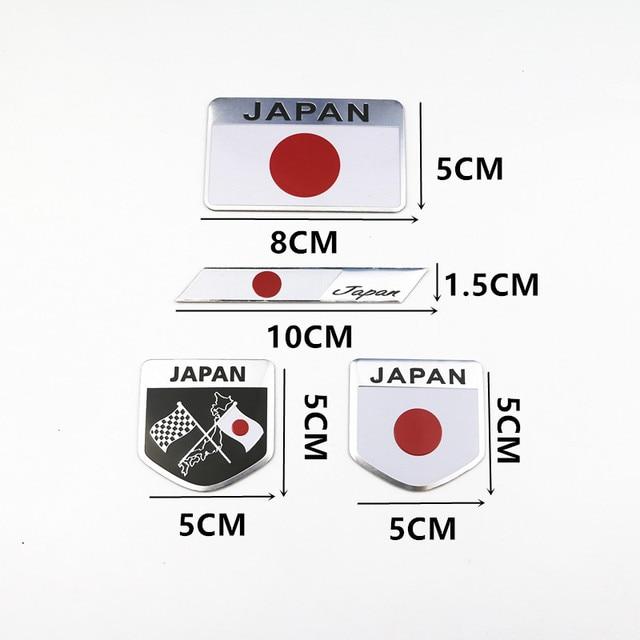 Japanese Flag Emblem Badge Car Styling Motorcycle Sticker Decal for KAWASAKI SUZUKI YAMAHA Honda Toyota Nissan Mazda Mitsubishi