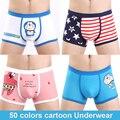 2016 hot venda de algodão dos desenhos animados underwear homens sexy cuecas boxer shorts dos desenhos animados impresso calcinhas casal calzoncillo cuecas boxers