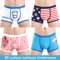 2016 venta caliente de dibujos animados de algodón underwear hombres sexy calzoncillos boxer shorts impreso calzoncillo cuecas boxeadores bragas de dibujos animados de pareja