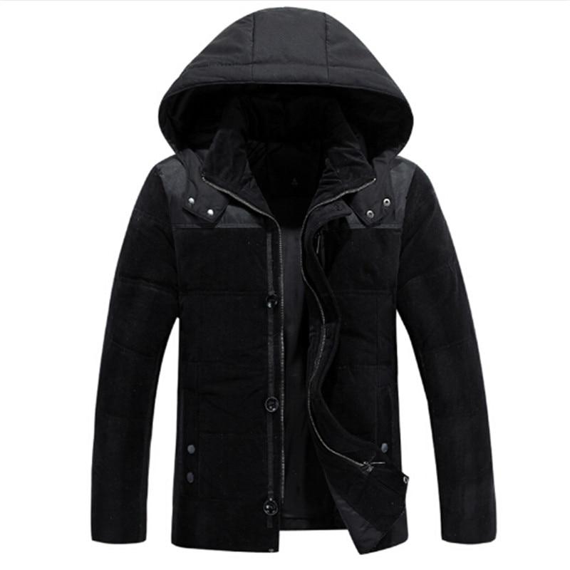 2016 Autumn / Winter Clothing Men Down Coats Plus Size L-XXXL Fashion Hooded Design Casual Cotton Parkas