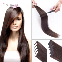 Double Tape in Human Hair extensions Remy Brazilian Tape In Extensions 2.5g/strand 50g/100g/lot Straight Tape Hair Extensions