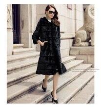 LVCHI mink coat European star special Noble New Natural Full Pelt black short sleeves Mink Fur Winter Fashion Coat Women's