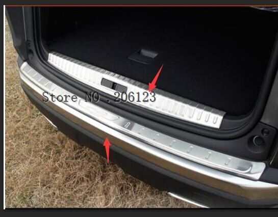 For Peugeot 3008 GT 2017 2018 Stainless Steel Inner or Outer Rear Bumper Protector Guard Plate Trim 1pcs Car StylingFor Peugeot 3008 GT 2017 2018 Stainless Steel Inner or Outer Rear Bumper Protector Guard Plate Trim 1pcs Car Styling