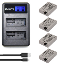 Wholesale prices 4pcs DuraPro LP-E8 Digital Batteries Li-ion LP E8 LPE8 Camera Battery + LCD Dual USB Charger For Canon EOS 550D 600D 650D 700D