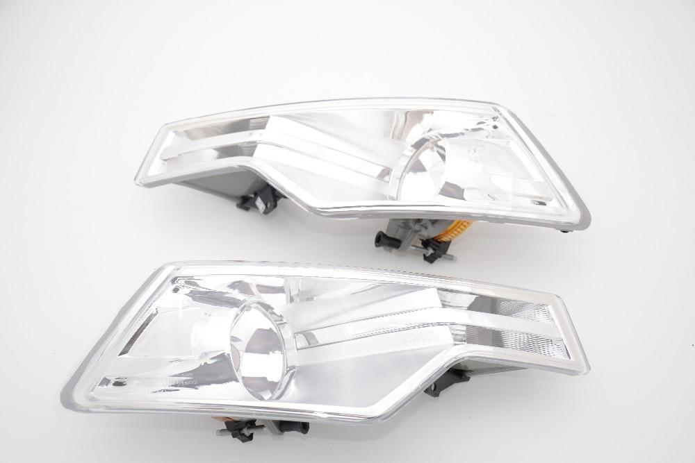 1Pair Front Driving Fog Light Bumper Lamp Without Bulb For Citroen C5 2008-2015 pair car 55w h11 front bumper driving fog light lamp for audi a4 b6 sedan 02 05 03 04