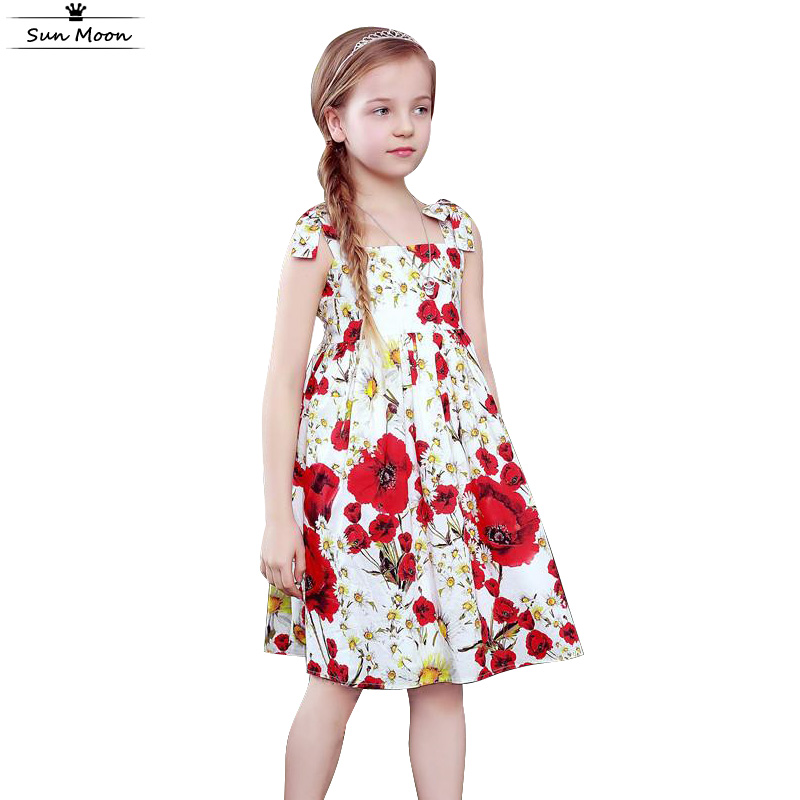Brand Kids Clothes Girls Dresses Summer 2016 Children
