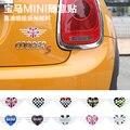 11.8*4.7cm Mini Cooper I LOVE MINI creative DIY sticker For mini cooper clubman countryman R50 R52 R53 R55 R56 R60 F56 F55 F54