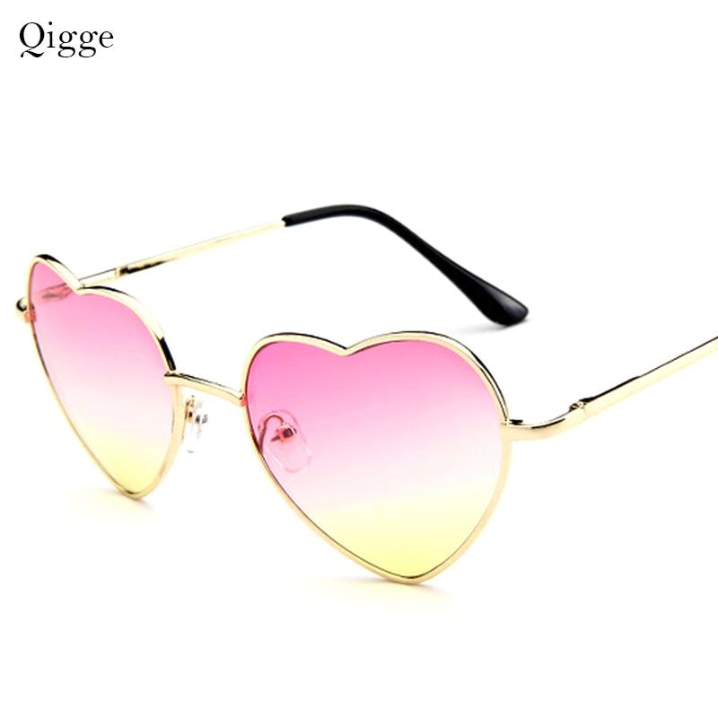 2020 New Fashion Heart Shaped Sunglasses Women Metal Frame Reflective Lens Sunglasses Protection Men Women Sunglasses UV400