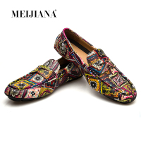 MEIJIANA Brand Leather Men Flats 2018 New Men Casual Shoes High Quality Loafers Driving Shoes Colorful Fashion Boat Shoes