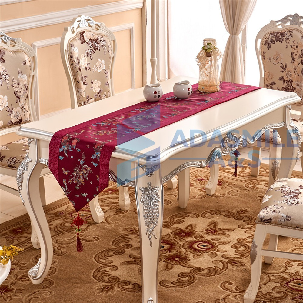Chinese Phoenix Table Runner Embroidered Floral Home Hotel Decoration Table Cover Wedding Party Banquet Flag|table runner embroidered|table runner|embroidered table runner - title=