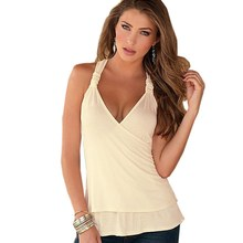 Charming Summer Women Tops Halter Neck Strapless Tank Sexy Backless Lace Stitching Vest Plus Size