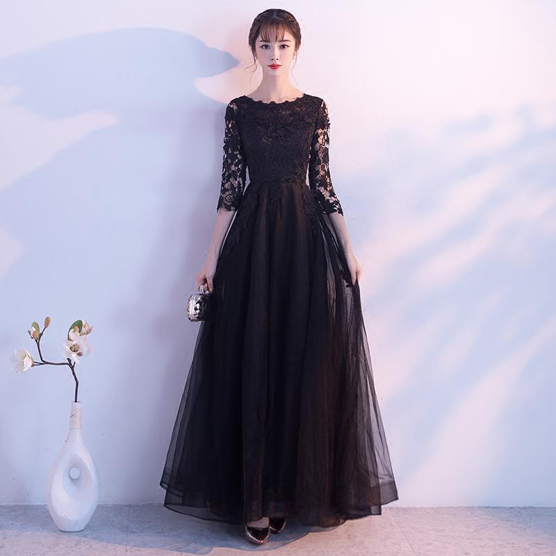 Robes de maternité d'été dentelle broderie cheville longueur robes de grossesse longues pour Photo Shoot robe noire robe de soirée enceinte