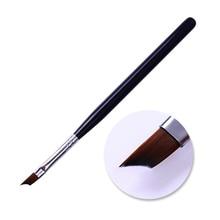 BORN PRETTY Acrylic French Nail Brush Half Moon Arc Smile UV Gel Painting Brush Black Handle Nail Drawing Pen Nail Art Tools