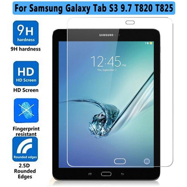 HD vidrio templado para Samsung Galaxy Tab S3 T820 T825 9,7 pulgadas Tablet Protector de pantalla película protectora para SM-T820 de vidrio 9 H 2.5D