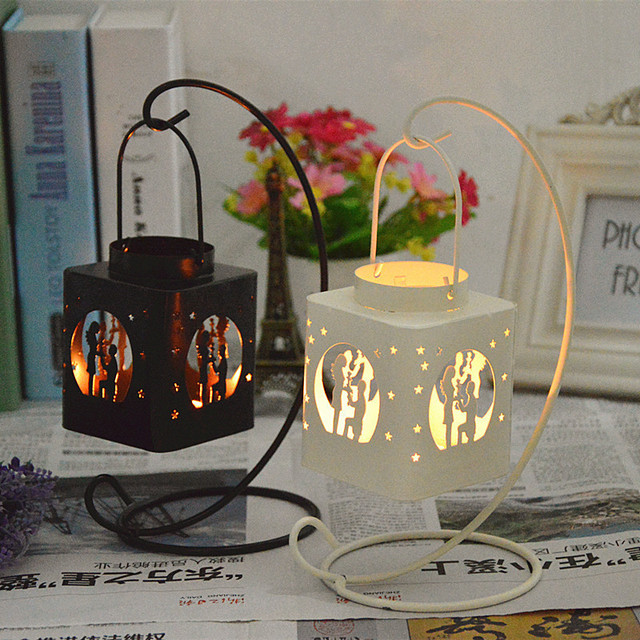 Fashion candle holder cottages style iron candlestick retro fashion candle holder cottages style iron candlestick retro ornaments lamp windproof small tealight chandelier wedding gift aloadofball Gallery