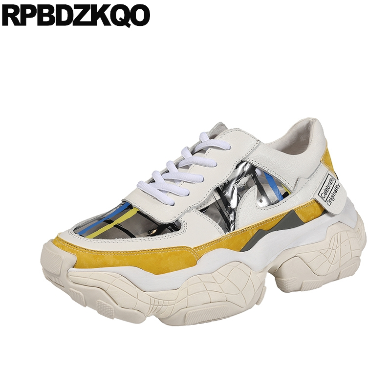 designer shoes women luxury 2019 sneakers lace up brand thick sole platform genuine leather yellow muffin runway creepers wedgedesigner shoes women luxury 2019 sneakers lace up brand thick sole platform genuine leather yellow muffin runway creepers wedge
