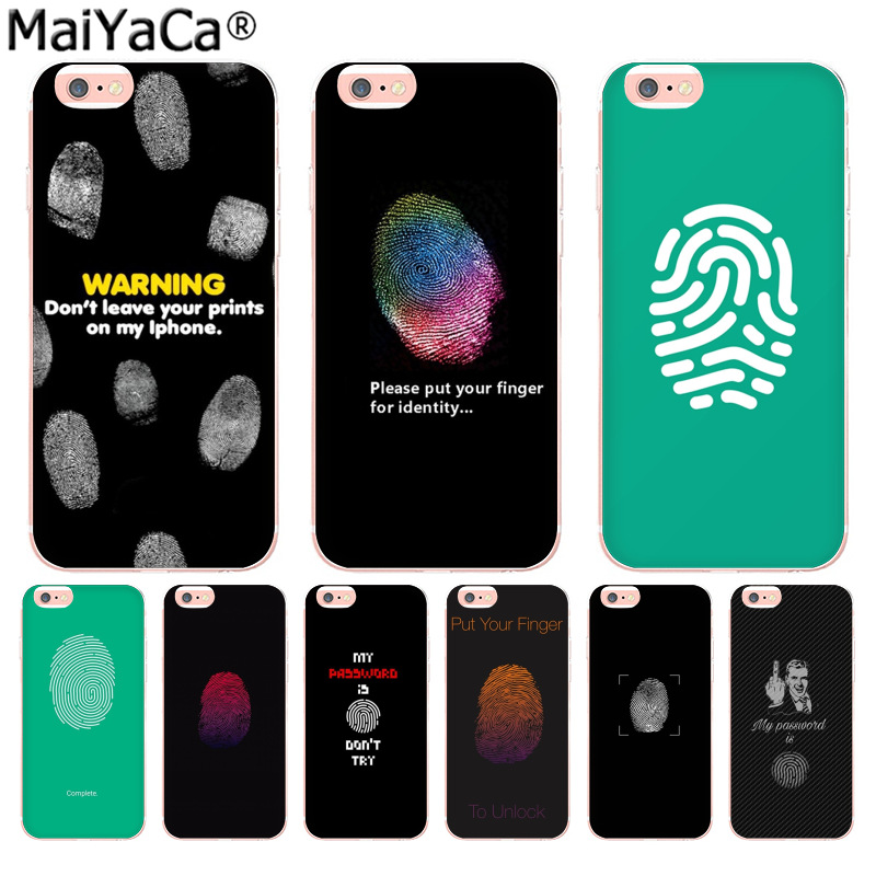 MaiYaCa Stylish thumb lock screen Luxury Fashion Phone Case for Apple iPhone 8 7 6 6S Plus X 5 5S SE 5C 4 4S Cover