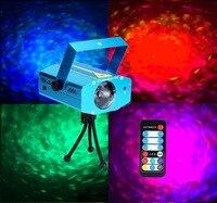 Vendita calda IR Remote Fase 9 W RGB LED Water Wave Effetto Luce Della Fase Luce Del Proiettore Laser ChristmasDisco Evento partito