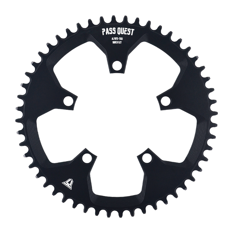 PASS QUEST 110 / 5 BCD 110BCD Round Road Bike Narrow Wide Chainring 38T-52T Chainwheel sram 3550 APEX RED