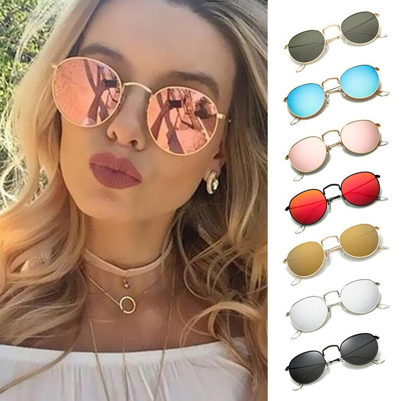 Fashion Kleurrijke Ronde Stijl Vrouwen Zonnebril Metalen Uv400 Zonnebril Casual Eyewear Zomer Outdoor Lunettes