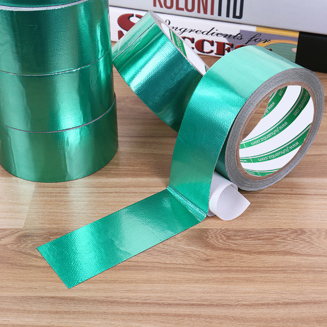 4.5CM 8M Outdoor Tent Tarpaulin Repair Tape Green Highly Sticky Cloth Base Tape Sunscreen Waterproof & 4.5CM 8M Outdoor Tent Tarpaulin Repair Tape Green Highly Sticky ...