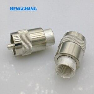 Image 3 - Tipo conector coaxial do conector pl259 m da frequência ultraelevada de sl16 50 7 rf conector rg8 rg213 7d fb lmr400 50 7 cabo coaxial 10 pces
