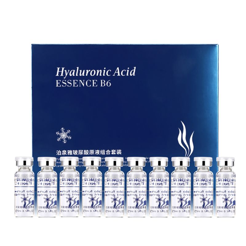 цена Facial Skin Care 10pcs Vitamins Moisturizing Hyaluronic Acid Serum Anti Wrinkle Anti Aging Collagen Essence Liquid