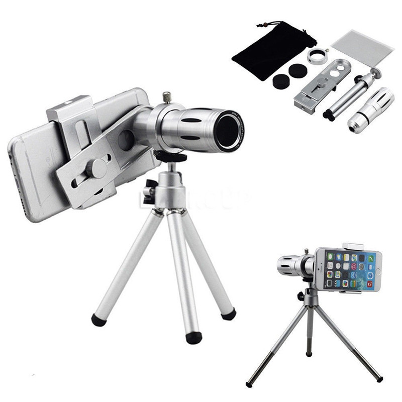 Universal 2016 12X Zoom Optik Lensa Kamera Ponsel Teleskop kit dengan - Aksesori dan suku cadang ponsel - Foto 1
