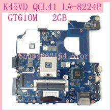 K45VD QCL41 LA-8224P GT610M 2GB REV1.0 Mainboard For ASUS  K45V A45V A85V P45VJ K45VM K45VJ K45VS Laptop motherboard Tested OK