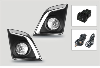 For Isuzu D-Max 2016-up fog light Halogen fog lamp assembly with wiring kit and switch shippin FL500 фото