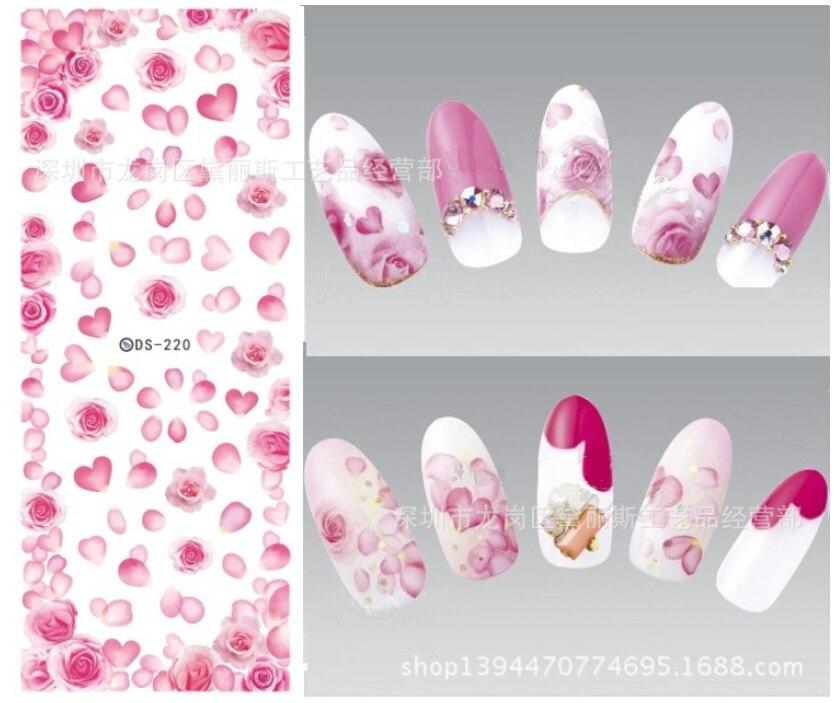 japanese summer nail art stickers water transfer cartoon fruit nail ...